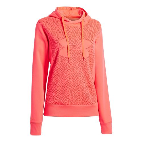 Womens Under Armour Fleece Storm Eclipse Big Logo Warm-Up Hooded Jackets - Neo Pulse/Neo Pulse ...