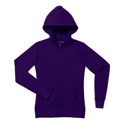 Womens Under Armour Fleece Storm Full Zip Warm-Up Hooded Jackets - Purple Rain/Purple Rain XL ...