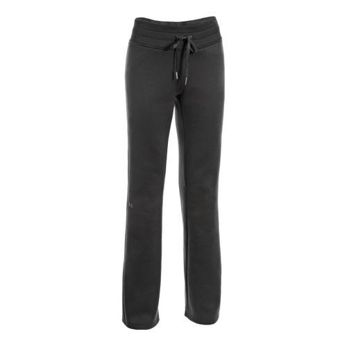Womens Under Armour Fleece Storm Full Length Pants - Black/Black XS