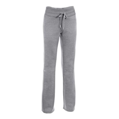 Womens Under Armour Fleece Storm Full Length Pants - True Grey/Steel L
