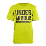 Kids Under Armour Boys Script Short Sleeve Non-Technical Tops