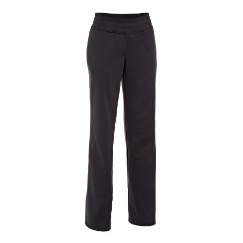 Womens Under Armour Fleece Storm Pants - Black/Black MS