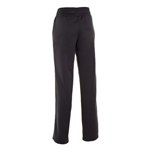 Womens Under Armour Fleece Storm Full Length Pants - Black/Black L