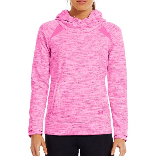 Womens Under Armour Charged Cotton Storm Marble Hoody Warm-Up Hooded Jackets - ...