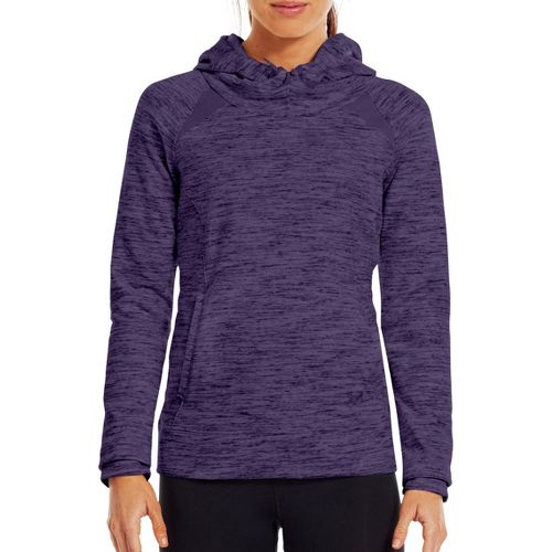 Womens Under Armour Charged Cotton Storm Marble Hoody Warm-Up Hooded Jackets - Purple ...