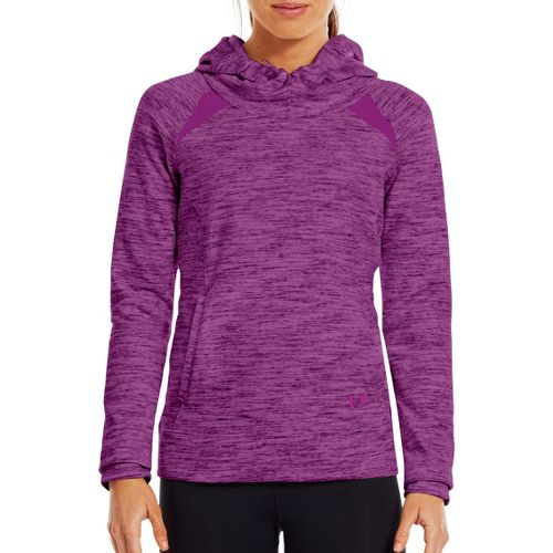 Womens Under Armour Charged Cotton Storm Marble Hoody Warm-Up Hooded Jackets - Strobe/Strobe L