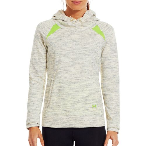 Womens Under Armour Charged Cotton Storm Marble Hoody Warm-Up Hooded Jackets - Tusk/Hyper Green ...