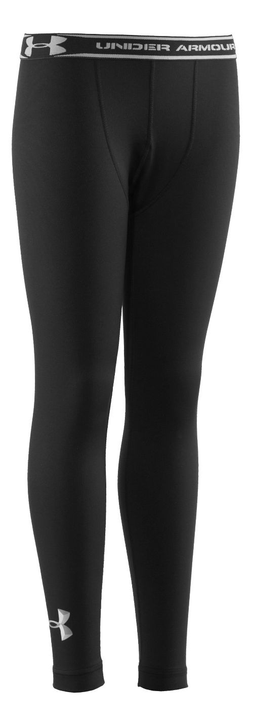 Kids Under Armour Boys Evo ColdGear Fitted Tights - Black/Metal XL
