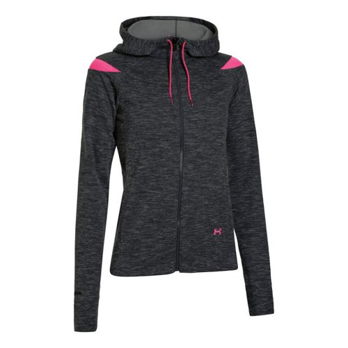 Womens Under Armour Charged Cotton Storm Marble Full Zip Warm-Up Hooded Jackets - ...