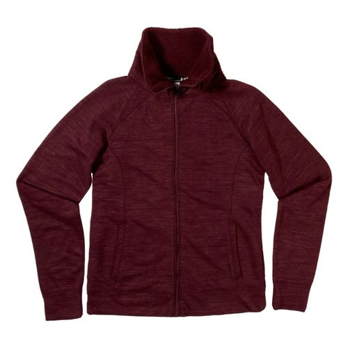 Womens Under Armour Charged Cotton Storm Marble Sherpa Full Zip Warm-Up Hooded Jackets - ...