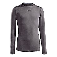 Kids Under Armour Boys HeatGear Sonic Fitted Long Sleeve No Zip Technical Tops