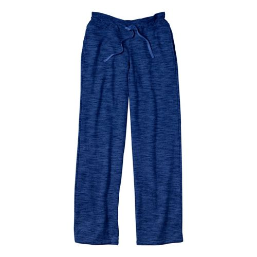 Womens Under Armour Charged Cotton Storm Marble Full Length Pants - Blu-Away/Blu-Away L