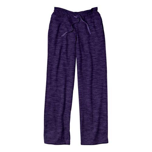 Womens Under Armour Charged Cotton Storm Marble Full Length Pants - Purple Rain/Purple Rain S ...