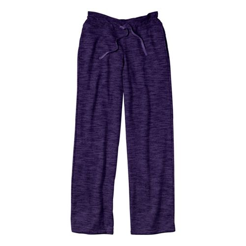 Womens Under Armour Charged Cotton Storm Marble Full Length Pants - Purple Rain/Purple Rain XL ...