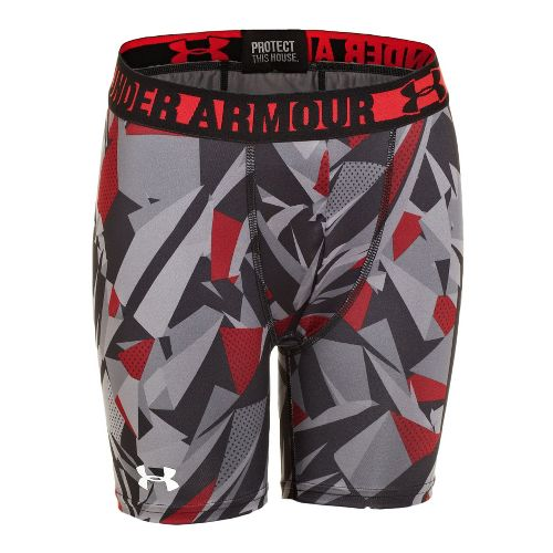 Mens Under Armour Boys HeatGear Sonic Fitted 4