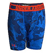 "Mens Under Armour Boys HeatGear Sonic Fitted 4"" Boxer Brief Underwear Bottoms"