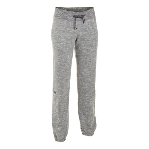Womens Under Armour Charged Cotton Storm Marble Skinny Full Length Pants - Black/Lead L