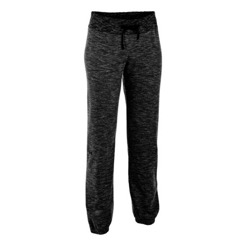 Womens Under Armour Charged Cotton Storm Marble Skinny Full Length Pants - Black/Metallic ...