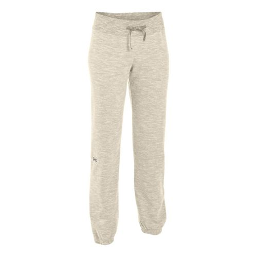Womens Under Armour Charged Cotton Storm Marble Skinny Full Length Pants - Tusk/Metallic Pewter ...
