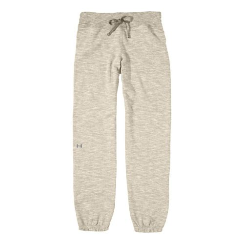 Womens Under Armour Charged Cotton Storm Marble Skinny Full Length Pants - Tusk/Tusk L