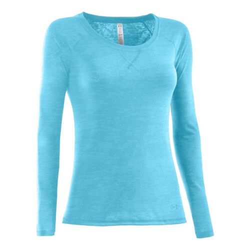 Womens Under Armour Ultimate Burnout Long Sleeve No Zip Technical Tops - Tobago S