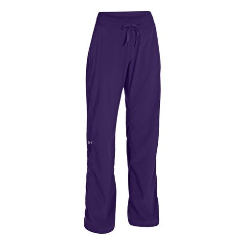 Womens Under Armour Icon Full Length Pants - Purple Rain/Reflective L