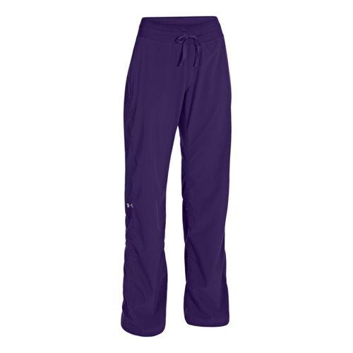 Womens Under Armour Icon Full Length Pants - Purple Rain/Reflective M