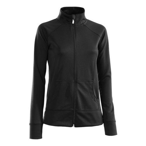 Womens Under Armour Craze Running Jackets - Black/Black L