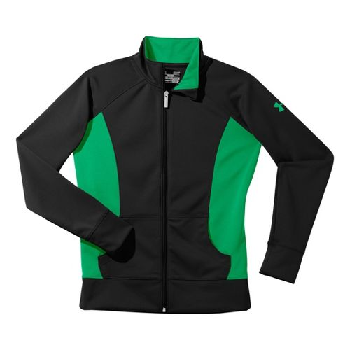 Womens Under Armour Craze Running Jackets - Black/Chlorophyll S