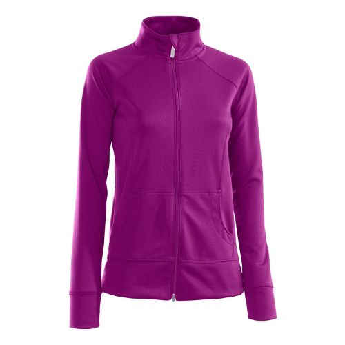Womens Under Armour Craze Running Jackets - Strobe/Lead M