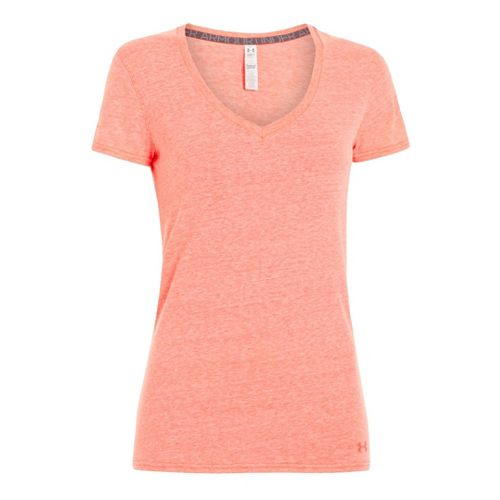 Womens Under Armour Charged Cotton Undeniable T Short Sleeve Technical Tops - Brilliance XS