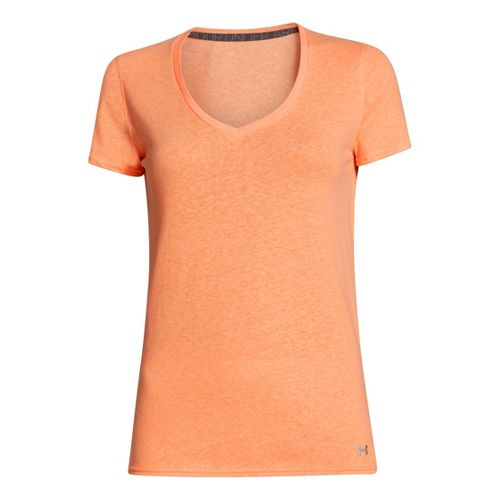 Womens Under Armour Charged Cotton Undeniable T Short Sleeve Technical Tops - Blaze Orange XL ...