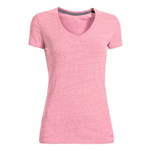 Womens Under Armour Charged Cotton Undeniable T Short Sleeve Technical Tops - Chaos L