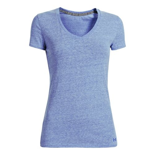 Womens Under Armour Charged Cotton Undeniable T Short Sleeve Technical Tops - Caspian L