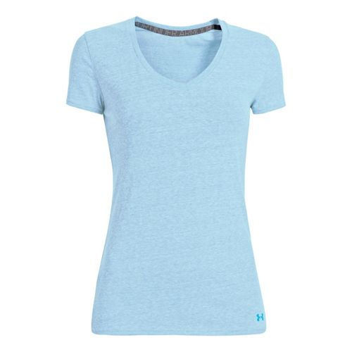 Womens Under Armour Charged Cotton Undeniable T Short Sleeve Technical Tops - Electric Blue S ...