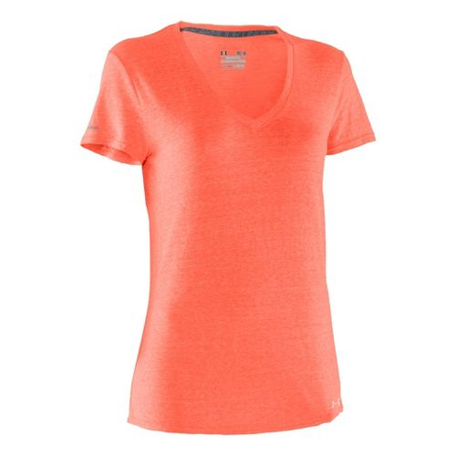 Womens Under Armour Charged Cotton Undeniable T Short Sleeve Technical Tops - Electric ...