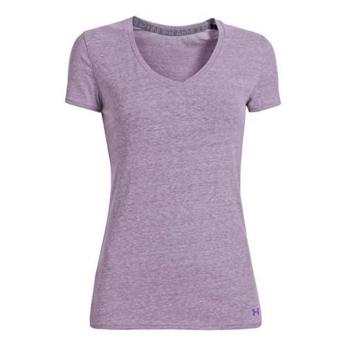 Womens Under Armour Charged Cotton Undeniable T Short Sleeve Technical Tops - Pride S