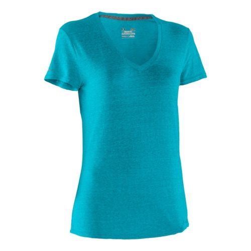 Womens Under Armour Charged Cotton Undeniable T Short Sleeve Technical Tops - Pirate ...