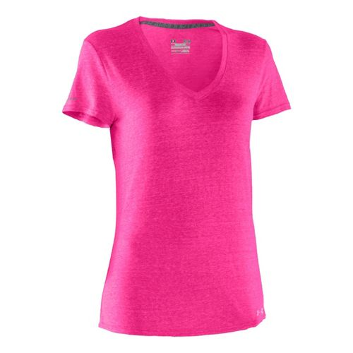 Womens Under Armour Charged Cotton Undeniable T Short Sleeve Technical Tops - ...