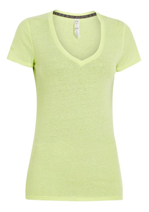 Womens Under Armour Charged Cotton Undeniable T Short Sleeve Technical Tops - X-Ray M