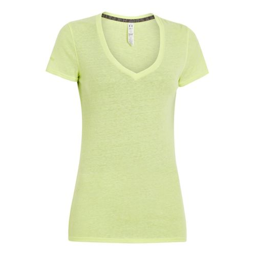 Womens Under Armour Charged Cotton Undeniable T Short Sleeve Technical Tops - X-Ray XS