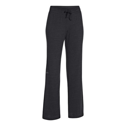 Womens Under Armour Charged Cotton Undeniable Full Length Pants - Black/Charcoal L