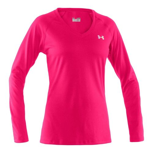 Womens Under Armour Tech Long Sleeve No Zip Technical Tops - Neo Pulse/Iridescent Blue M ...