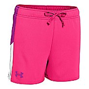 Kids Under Armour Girls Intensity 3 Knit Lined Shorts