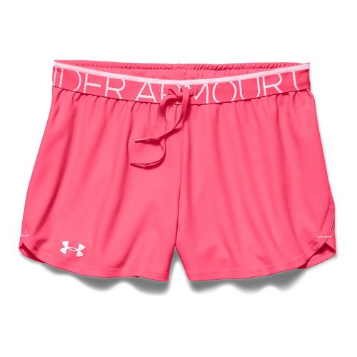 Womens Under Armour Play Up Splits Shorts - Pink Shock S