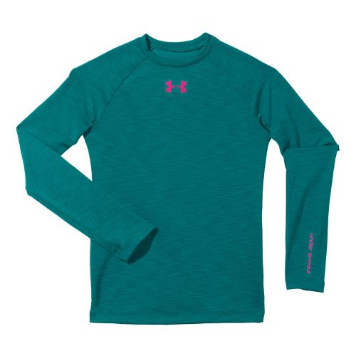 Kids Under Armour�Girls Evo ColdGear Fitted Crew