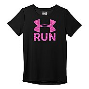 Womens Under Armour  Run Print Fill T Short Sleeve Technical Tops