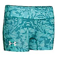 "Kids Under Armour Girls HeatGear Sonic Printed 3"" Fitted Shorts"