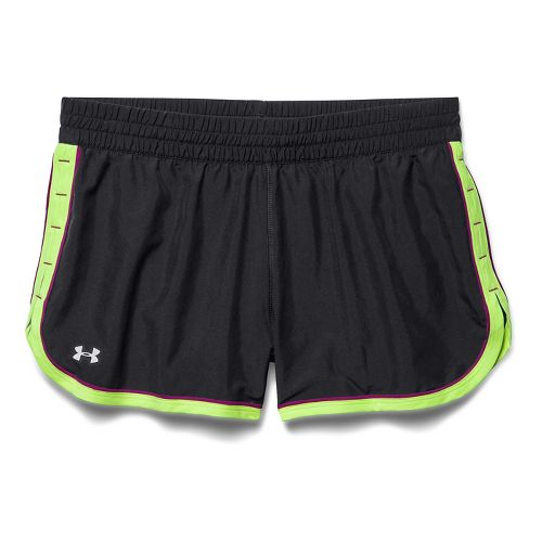 Womens Under Armour Great Escape II Lined Shorts - Black/X-Ray S
