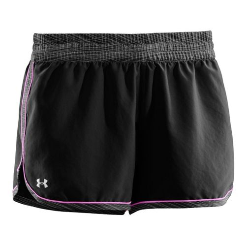 Womens Under Armour Great Escape II Lined Shorts - Black/Black XL